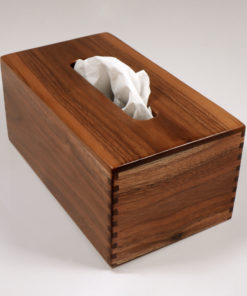 Regular Tissue Box Cover - Rectangular - Walnut - Holder