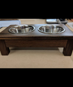Small Texas Black Walnut Raised Dog Bowls - Small