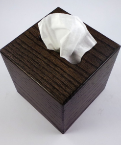 Tissue Box - Small - Ebony - Oak