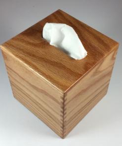 Tissue Box - Small - Flat Sawn Oak