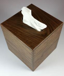 Tissue Box - Small - Black Walnut