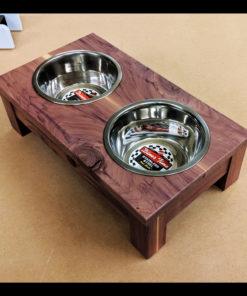 Cedar Dog Bowl Stand