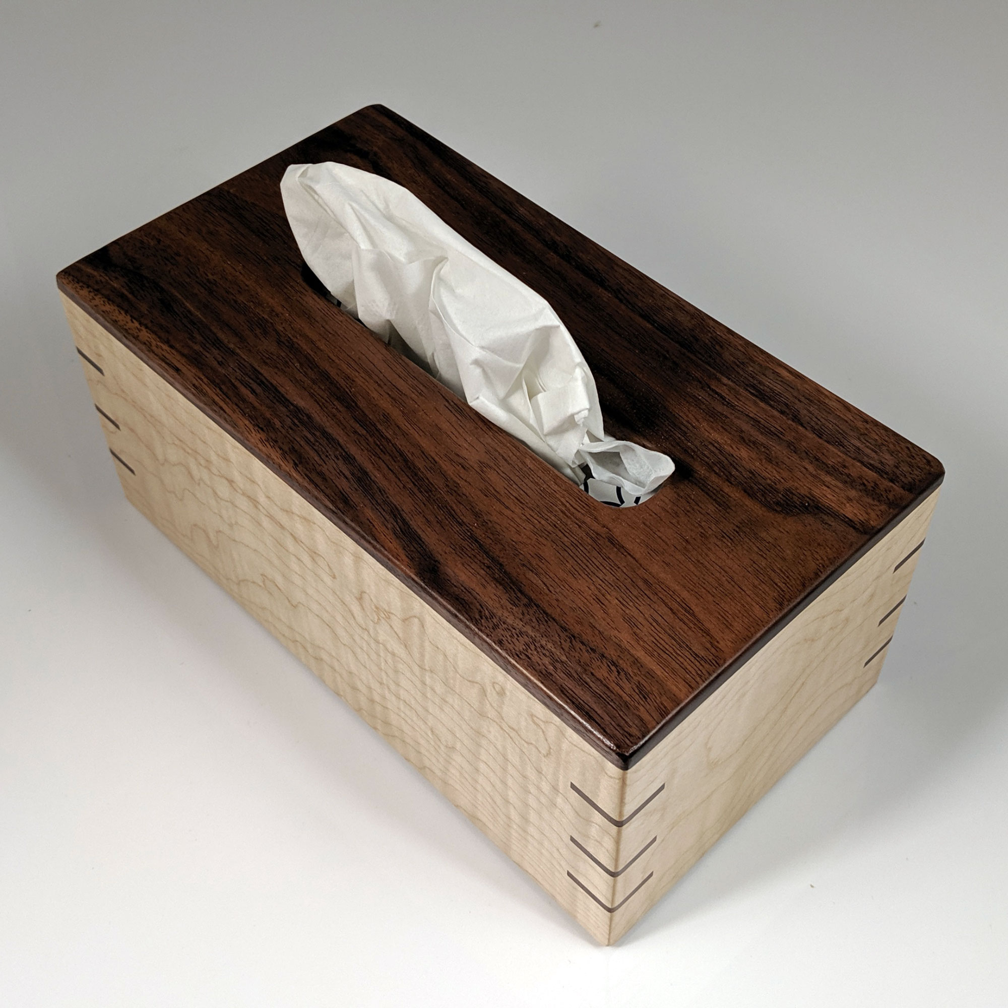 Walnut Natural finish NEW Wooden tissue box cover