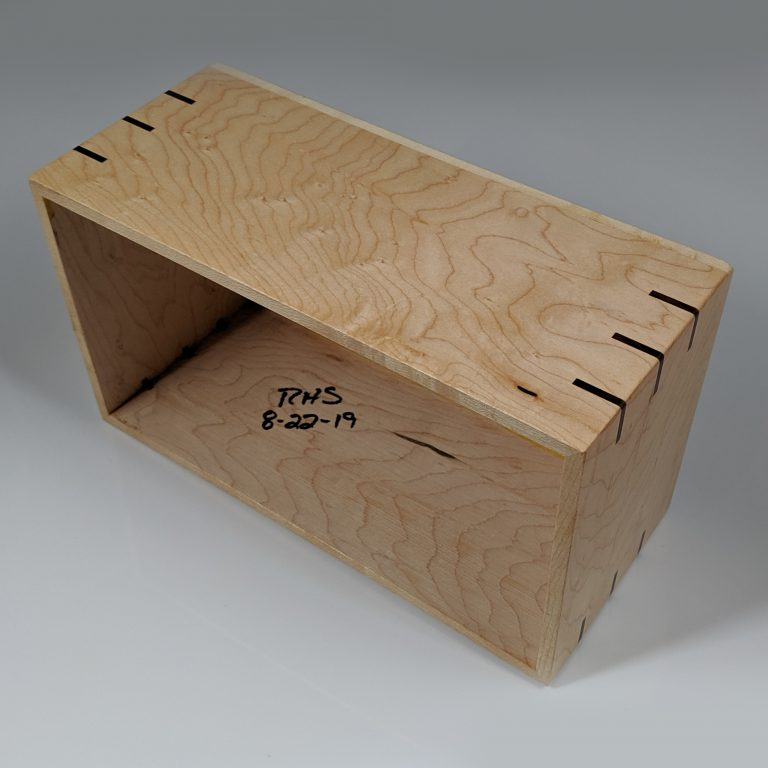 Limited – Solid Birdseye Maple – Handmade Tissue / Kleenex Box Cover Holder – Rectangle Style – Walnut Splines