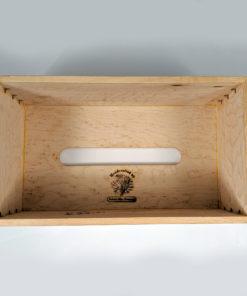 Limited - Solid Birdseye Maple - Handmade Tissue / Kleenex Box Cover Holder - Rectangle Style - Walnut Splines