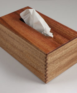 Tissue Box - Rectangular - African Mahogany - Box Jointed Sides