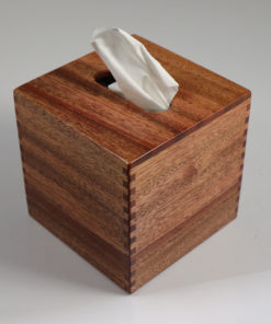 Tissue Box - Small - African Mahogany - Box Jointed Sides