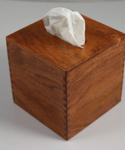 Limited Quantity - Solid Texas Mesquite - Handmade Tissue Kleenex Box Cover - Square Cube - Box Jointed Corners