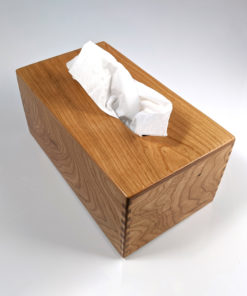 Solid Cherry - Handmade Tissue / Kleenex Box Cover Holder - Rectangular - Box Jointed Sides