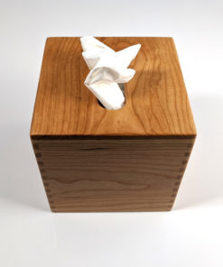 Solid Cherrywood Tissue Kleenex Box Cover Holder