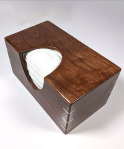 Solid Texas Black Walnut and Maple Splined Miter Joints - Handmade Tissue / Puffs Box Cover Holder - Puffs 180ct Style